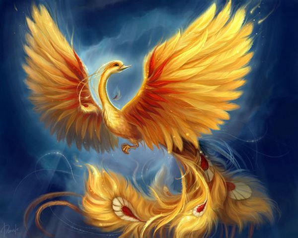 tượng chim phượng hoàng 2