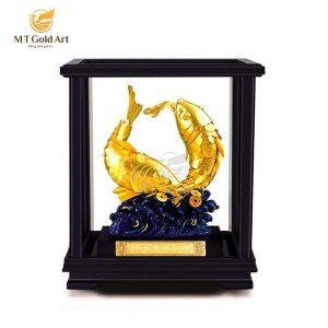 tượng cá chép dát vàng 24k