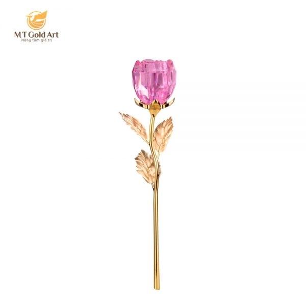 hoa hồng mạ vàng